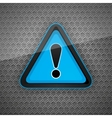 hazard warning attention symbol on a dark gray met vector image