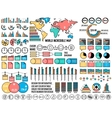 big business flat infographics and chart elementc vector image