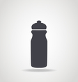Black icon of water bottle vector image