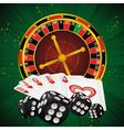 roulette green dice vector image vector image
