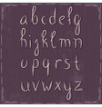 alphabet on wooden background vector image