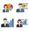 Business people doing presentation vector image