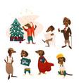 cartoon dog characters set vector image