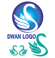Colorful swan logo vector image