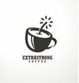 creative logo design idea for extra strong coffee vector image