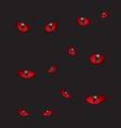 Devil eyes in the dark vector image