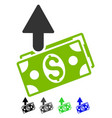 expences flat icon vector image