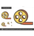 Film strip line icon vector image