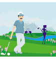 golfers on a sunny day vector image