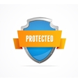Protect shield on white background vector image
