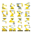 Robotic arm hand industrial robot flat vector image