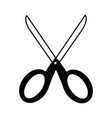 school scissors tool handle object vector image