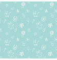 Seamless pattern with elements of childrens toys vector image