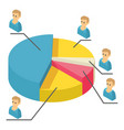 statistics icon isometric 3d style vector image