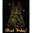 Black friday background golden on black with dress vector image vector image