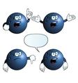 Angry bowling ball set vector image