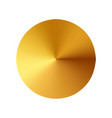 gold button metal circle button vector image
