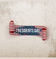 Presidents Day realistic scroll paper Ribbon vector image