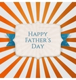 Happy Fathers Day Holiday Tag vector image