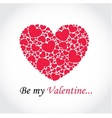 Background with hearts for Valentines Day vector image