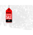 black friday sale with price tag vector image