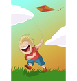Boy with the kite vector image