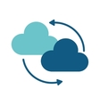 clouds system technology connect design vector image