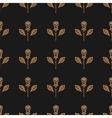 Golden rose seamless pattern minimal design vector image