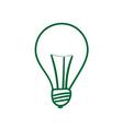 Green lightbulb sign vector image