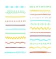 Marker strokes set vector image