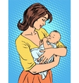 Mother and newborn baby vector image