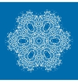 Outlined mandala on blue background Vintage vector image