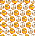 Pattern with cartoon owls vector image