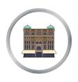 Queen Victoria Building icon in cartoon style vector image