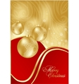 red abstract xmas card vector image