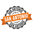 san antonio round ribbon seal vector image
