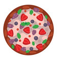 thinly fruit pizza italian cook and pizzas vector image
