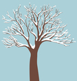 Tree-with-Snow-on-the-Branches vector image