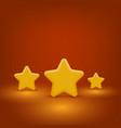 yellow stars set vector image