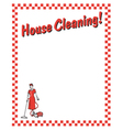 House cleaning vector image vector image
