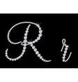 Diamond alphabetic letters of R vector image