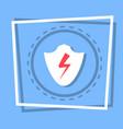 shield icon data protection web button vector image