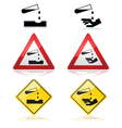 Warning for corrosive substances vector image vector image