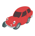 Braking car vector image