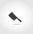 Butcher knife vector image