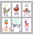 Cards With Cocktails vector image