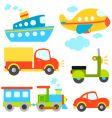cartoon vehicles set vector image