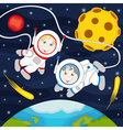 children in space vector image