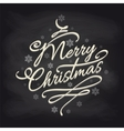 Christmas background with snowflakes on chalkboard vector image