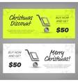 Christmas sales banners vector image